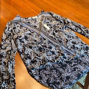 Max Studio high low blouse.